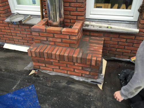 Schoorsteen bouw